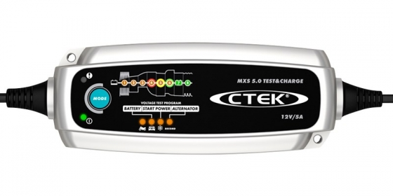 CTEK MXS5.0 TEST & CHARGE - 12V 5A Battery Charger - Maiden Electronics