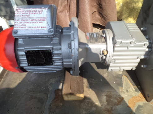 W.E,G. electric motor with gearbox