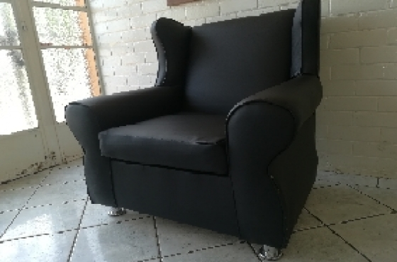 Black Wingback chair