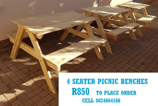 4 Seater Picnic Bench