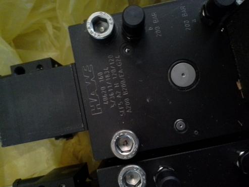 Hawe hydraulic lever valve block