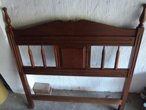 3/4 Bed Solid Imbuia Head Board