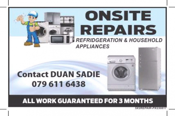 Refrigeration and household appliances repairs
