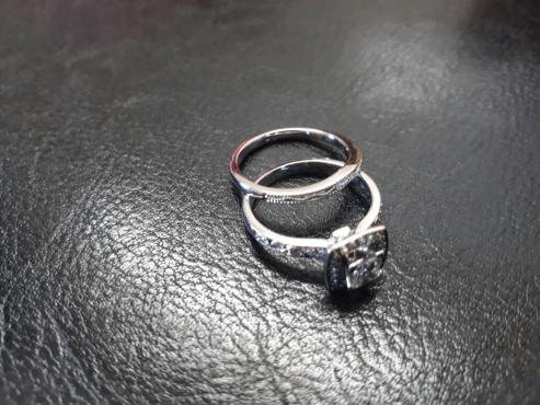 wedding ring engagement ring