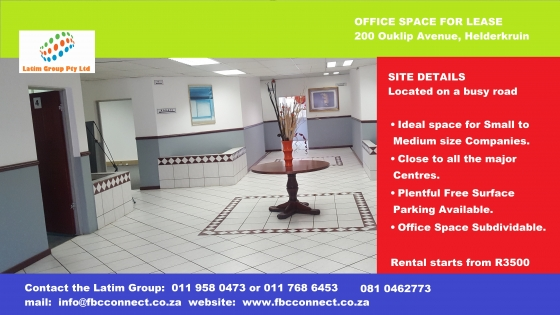 Office space in West Rand