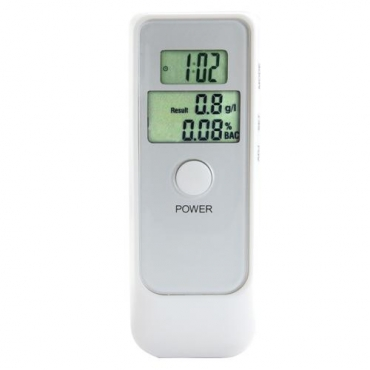 Breathalyzer Alcohol Tester - Dual LCD Display - 66AT