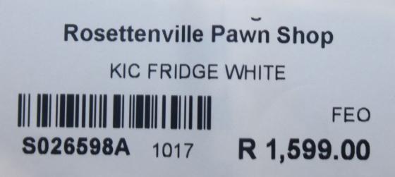 KIC fridge S026598a