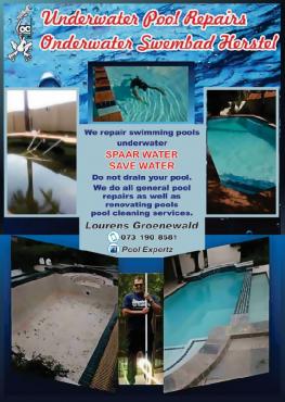 Underwater pool repairs
