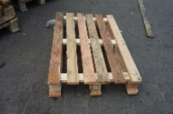 Collection of wooden pallets