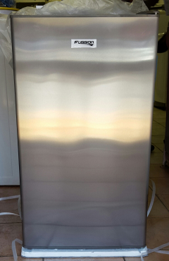 Fusion 118 litres stainless steel bar fridge with small freezer compartment
