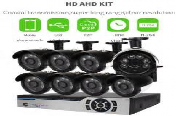8CH AHD CCTV Security DVR, 8 x Outdoor Night Vision cams
