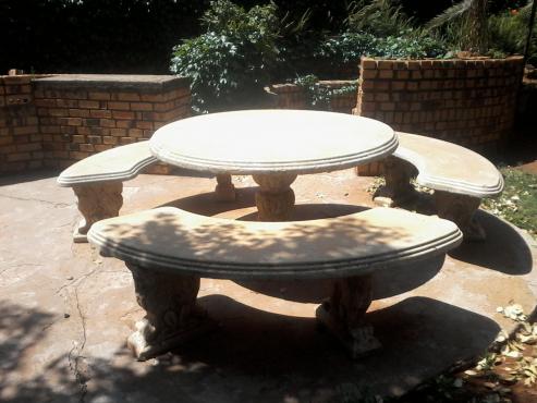 cement garden set 9 seater