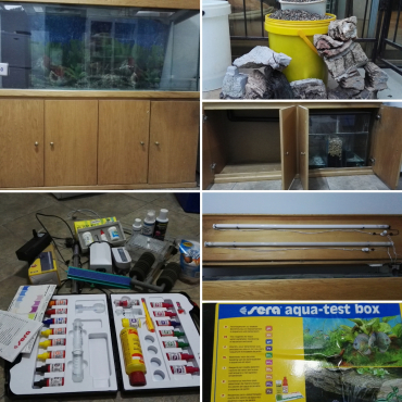 5ft fish tank with accessories for sale