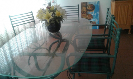 Steel A Glass Dining Room Set