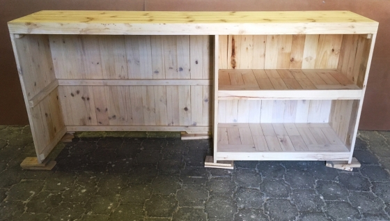 Bar Counter Chunky Farmhouse series 2500 Varnished