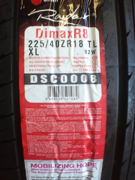 225/40/18 new tyres only R999 each!
