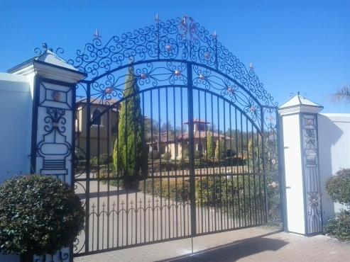 Wrought iron gates and balustrades