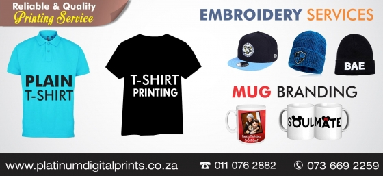 SAME DAY T SHIRT PRINTING AND EMBROIDERY SERVICES