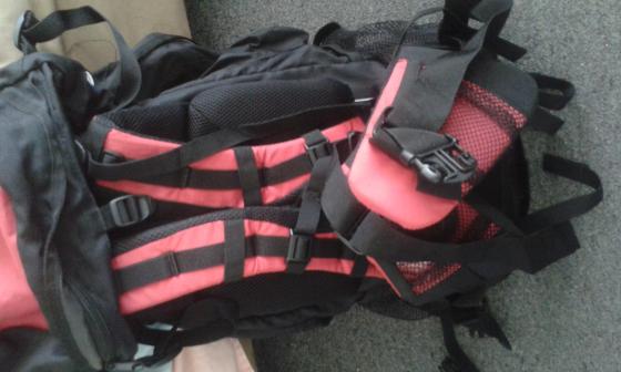 Hikers backpack