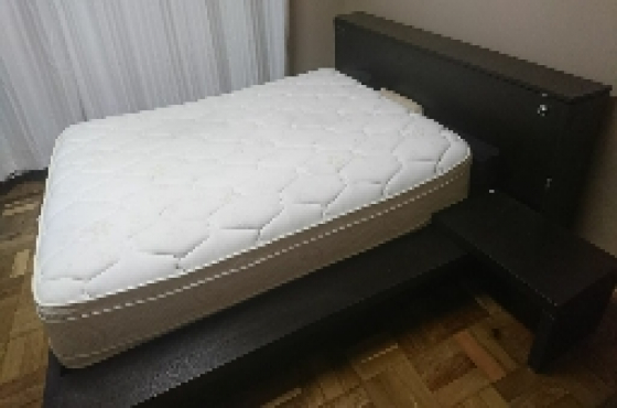 queen size bed frame and storage box