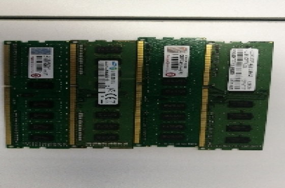 4 X 4GB DDR3 R300 each
