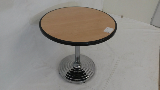 Round Maple Boardroom Table