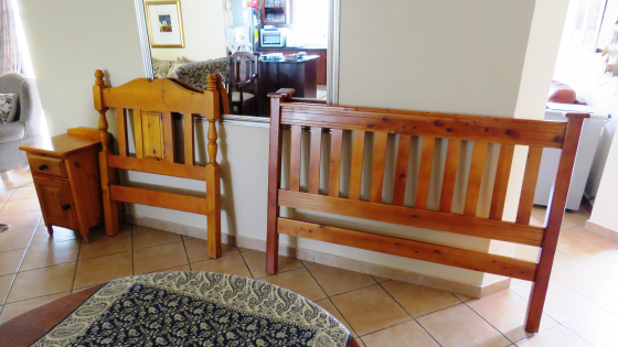 Oregon Headboards and Side Table