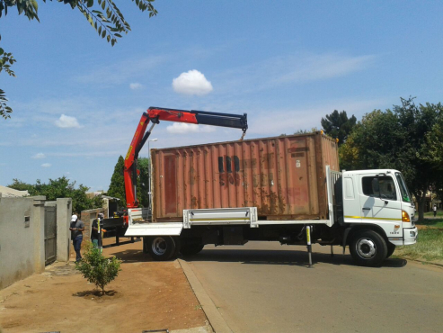 Crane Truck Hire & 6m Container Movements