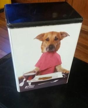 Small Dog food tin