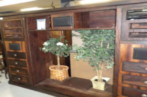 5 piece sleeper wood wall unit