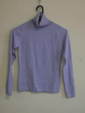 Cashmere Lilac Pullover Polo neck- Medium