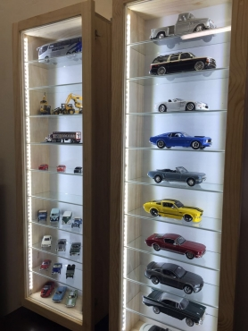 Wood Display Cabinets for Models Trains Cars Collectibles etc