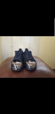 Adidas Superstar black size 6.5  lenient fit