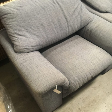 blue single couches