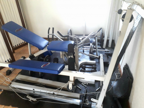 Trojan home gym complete with weights & mats junk mail