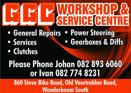 Engine Services, Brakes, Clutches, Prop shafts CV's, Wheel bearings