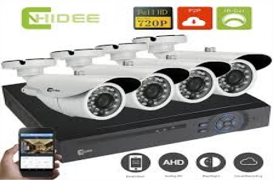 4 Channel DVR system with 4 x camz