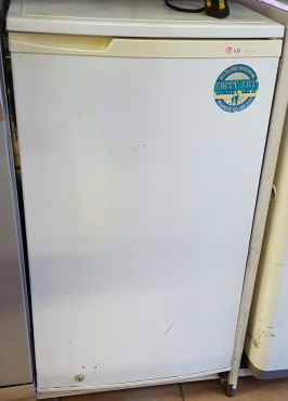LG 100 litres bar fridge with small freezer compartment