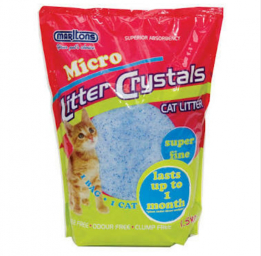 Micro cat litter crystals
