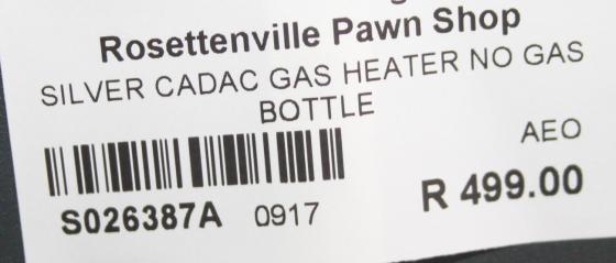 Cadac gas heater S026387a