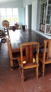 Rhodesian Teek dining table