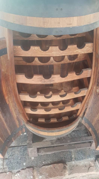 Wine racks, tables,