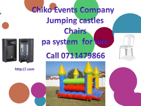 Jumping Castles, Kids themed parties, tents, Chairs