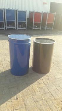 210 liter Steel drums for sale