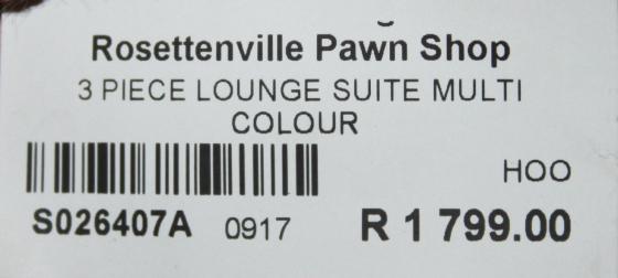 3 piece lounge suite S026407a