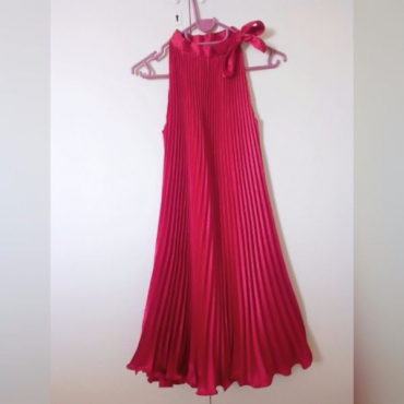 Lovely bright red attic farewell dress