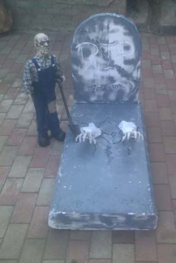 Halloween Decor & Props for Hire. Coffin for hire Packages from R500