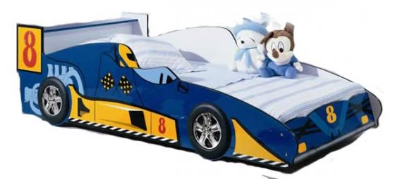 toddler car racing bed