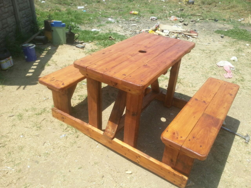4 Seater Wooden Picnic Benches For Sale Junk Mail