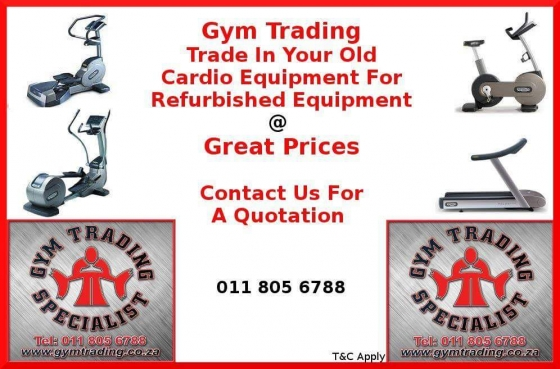Trade in your old cardio equipment